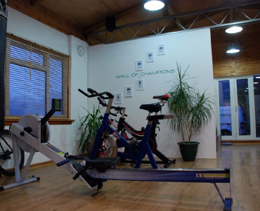 We also have a Watt bike and a rowing machine.