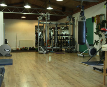 And of course, we have a full set off free weights and resistance machine.