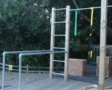 We have our calisthenics area