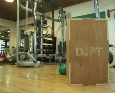 Plyometric boxes and kettlebells to build strength and power